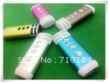 hot sell!! MINI Pocket Microphone Karaoke Player Home KTV Works For iphone/ipad/MP3/MP4 PC china post Free Shipping(China (Mainland))