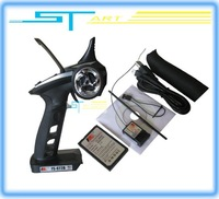 2013 Flysky FS-GT2B FS GT2B 2.4G 3CH Gun RC Transmitter & Receiver W/ TX battery + USB Cable Charger  Up GT2  Free Shipping 2014