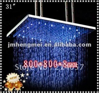 800mm hot-selling lighted over head shower head rainfall