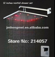 12 inches single lever concealed led bath shower mixer