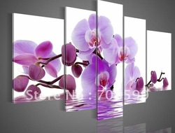 Free Shipping High Quality Guaranteed Wall Art Home Decoration100% Hand painted Framed Flower Oil Painting on Canvas(China (Mainland))