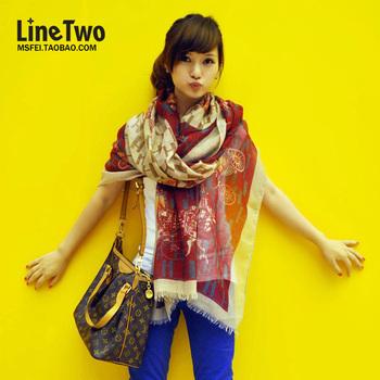 Women's long scarf sun cape silk scarf autumn and winter women's muffler scarf winter air conditioning cape