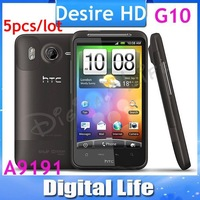 "G10 Original HTC Desire HD A9191 4.3""TouchScreen 8MP WIFI GPS Android Unlocked Mobile Phone Free Shipping 5PCS/LOT"