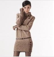 free shipping 2013 autumn/winter fashion  pullover slim turtleneck long sleeve wool women sweater 7075XIAOFANG