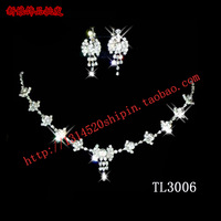 The bride accessories set necklace earrings 2 piece set wedding jewelry bridal accessories 3006