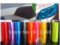 Free shipping Car modification translucent headlight discoloration changed color film taillight fog lights matte protective film