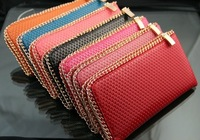 Кошелек Best selling! RETAIL fashion lady wallet PU leather purse women clutch bag solid color
