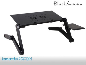 Folding laptop table compact design workmanship highly humanized notebook stand office stand table Black Ipaiter420FBM