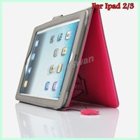 New arrival! Fashion Mini Cover Case for new Ipad Colorful Leather case for Ipad 2 3 Free shipping