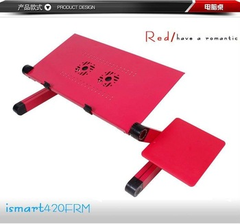 HOT!Folding Laptop Table Foldable Table Notebook table  red color  Ipaiter420FRM