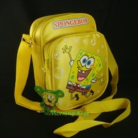 New Lovely Sponge Bob Squarepants Messenger Bags Shoulder Cross Body Coin Bag Case Yellow #996SB-YA41