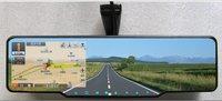 Anti-dazzling blue membrane Car rear view mirror+GPS+bluetooth talk+wireless reversing camera+built-in radar detector+Free ship