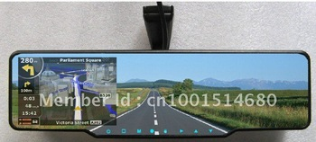 Car rearview mirror+GPS+HD 720P DVR recorder+bluetooth talk+wireless back up reversing camera+Free shipping