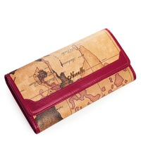 Free shipping new arrival fashionable women&#39;s long wallet high quality ladies wallet Nucelle brand wallet with world map 070083