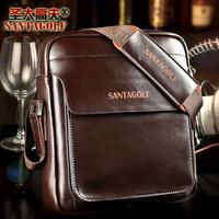 Stylish men's genuine leather shoulder bag / Cow leather men's bag/ Elegant men's business messager bag/ Free shipping