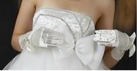 Free Shipping 2011 satin bridal gloves ts00149