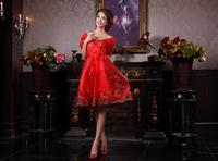 Free Shipping 2012 high waist bride plus size bandage red paillette lace bag dress