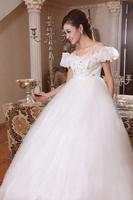 Free Shipping 2012 most formal dress princess high waist plus size bandage maternity bridal wedding dress