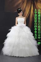 Free Shipping 2012 new arrival bandage customize bridal fashion tube top rhinestone wedding dress