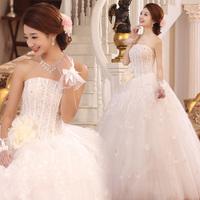 Free Shipping 2012 bride wedding elegant sweet princess wedding dress tube top wedding dress