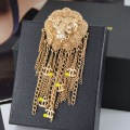 Accessories alloy 24k fashion unique small tassel lion head brooch small brooch