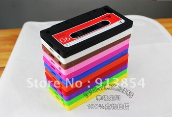 Cassete Tape Case For iPod Touch 5  Silicon Case Brand New 100pcs/lot