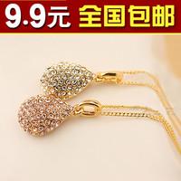 wholesale 10pcs/lot 1904 big small accessories ol elegant fashion full rhinestone drop necklace female