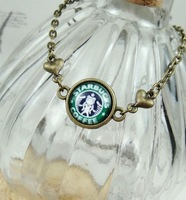 Vintage necklace chain personality lovers necklace starbucks