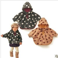 Men and women baby dot feather cloak cloak coat jacket infant children go out suit