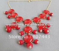 Newest crew bubble statement bib necklaces wholesale