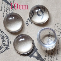 Free Shipping ! 50pcs/lot Clear Transparent Circle Domed Magnifying Glass Cabochon Cover 10mm