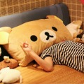 Retail Rilakkuma bear pillow easy bear pillow  cushion double Ears cartoon pillow