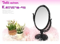 005 anna queen vintage rotary rose flower double faced mirror table mirror makeup mirror 500g
