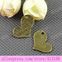 20*14MM Vintage Heart Pendant DIY accessories italian charms cheap(China (Mainland))
