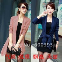 Free shipping 2012 women's irregular long-sleeve cape outerwear sweater medium-long cardigan shirt