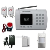 Free Shipping! New Wireless 99 zone PSTN PIR Home Security Burglar Alarm System Auto Dialing Dialer Easy DIY