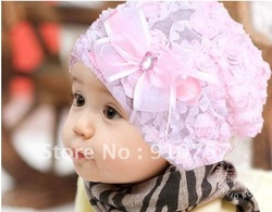 2012 new girls hat / Children roses kit lens cap / child flower headdress / cute princess hair accessories(China (Mainland))