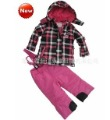 Child girl ski suit thickening children wadded jacket set outdoor jacket