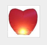 Flame retardant kongmingdeng wholesale heart-shaped lanterns wishing lamp sky lanterns | River Lotus lamp(50pcs/lot)