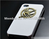 Free Shipping, Handmade The Hunger Games Case in Black for iPhone 4, 4s