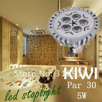 Free Shipping Hot selling 5W Par30 Par 30 LED Lamp Bulb E27 Spot Light Cool/ Pure / Warm White 100-240V