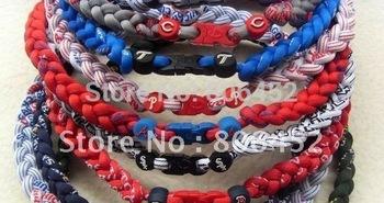 Wholesale hot selling US Baseball tornado Titanium necklaces 80 Custom Size Mix teams no box