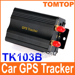 Professional Vehicle Car GPS Tracker 103B with Remote Control GSM Alarm SD Card Slot Anti-theft/car alarm system free shipping(China (Mainland))