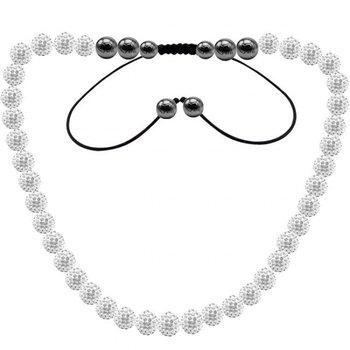 10mm 39 x Crystal Disco Ball 45cm Long Shamballa Necklace. AAW9895 Fashion Jewelry ...