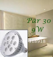 Free Shipping  4pcs/lot  9W Par 30 LED Lamp Bulb E27 Spot Light Cool/ Pure / Warm White 100-240V Hot selling !