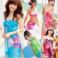 Sexy Pareo Dress Sarong Bikini Cover-Ups Scarf Wrap Swim swimwear Beach Beautiful Charming 6 Colors