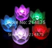 100pcs/Lot,Seven Color  Rose Flower Led Candle ,4.1x7cm