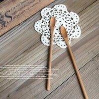 free shipping 1set of 3pcs wood spoons long handle tea sundae ice cream ladle spoons for coffee tableware