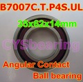 High precision B7007C.T.P4S.UL  7007CTYNSULP4 35x62x14mm  angular contact ball bearing P4 grade  CYS brand