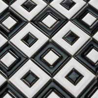 Ceramic tile sheets square back shaped manual craft mosaic kitchen backsplash procelaic tile supply bathroom design wall sticker